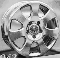 Racing Wheels H-342 . Представлен цвет: Chrome, другие доступные цвета, размеры и цены по ссылке.